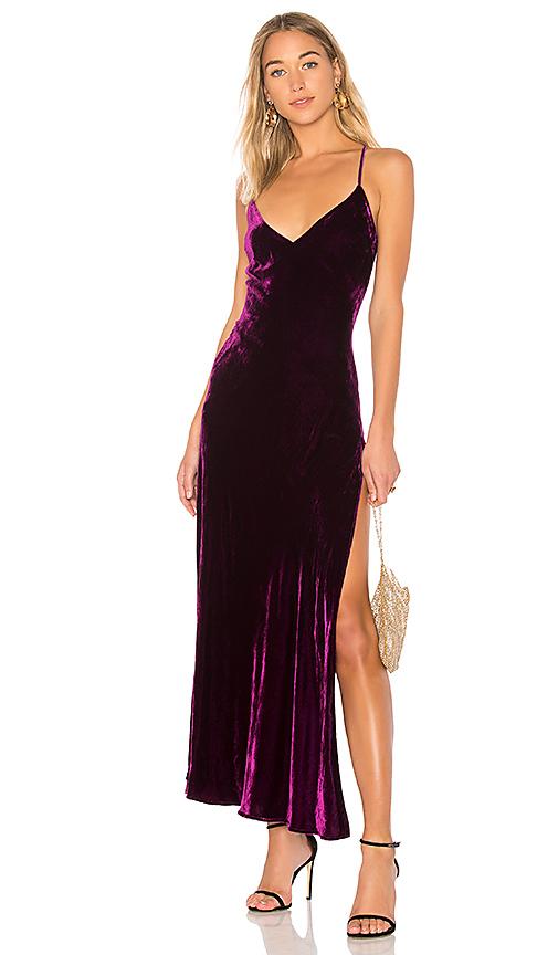 LoveShackFancy Kate Slip Dress in Purple