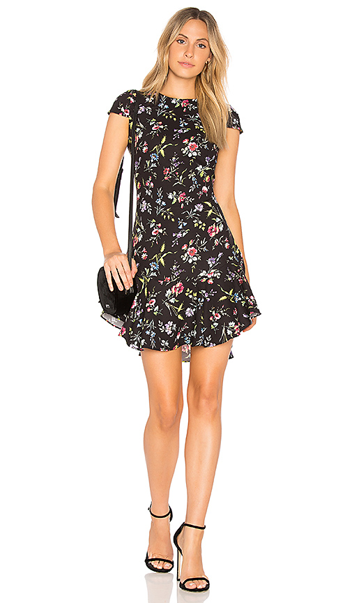 LIKELY Bright Botanical Belle Dress in Black