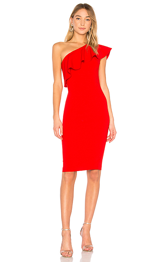 LIKELY Wilshire Dress in Red