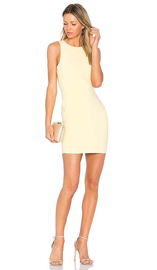 LIKELY Sleeveless Manhattan Dress in Yellow