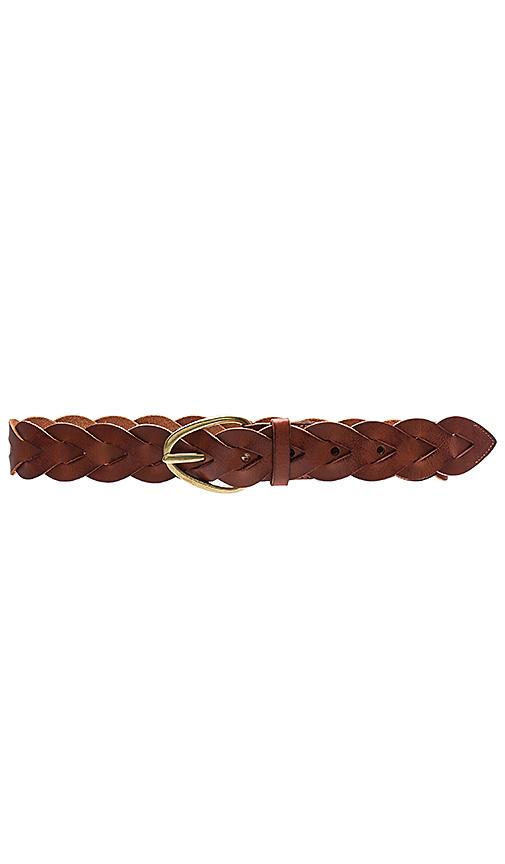 Linea Pelle Braided Hip Belt in Cognac