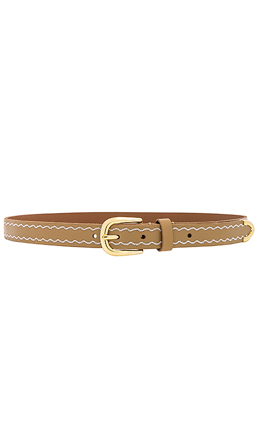 Linea Pelle Western Embroidered Belt in Tan