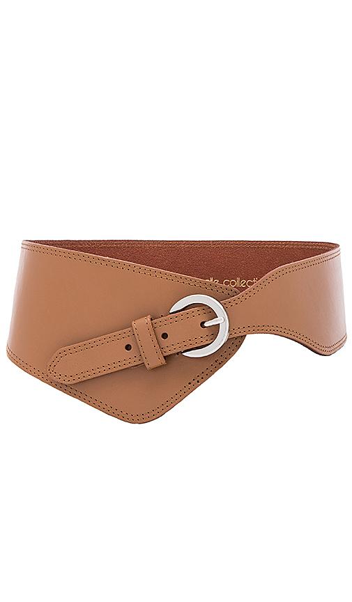 Linea Pelle Asymmetrical Belt in Brown
