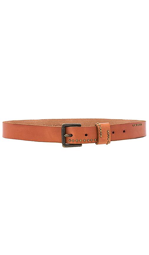 Linea Pelle Studded Jean Belt in Cognac