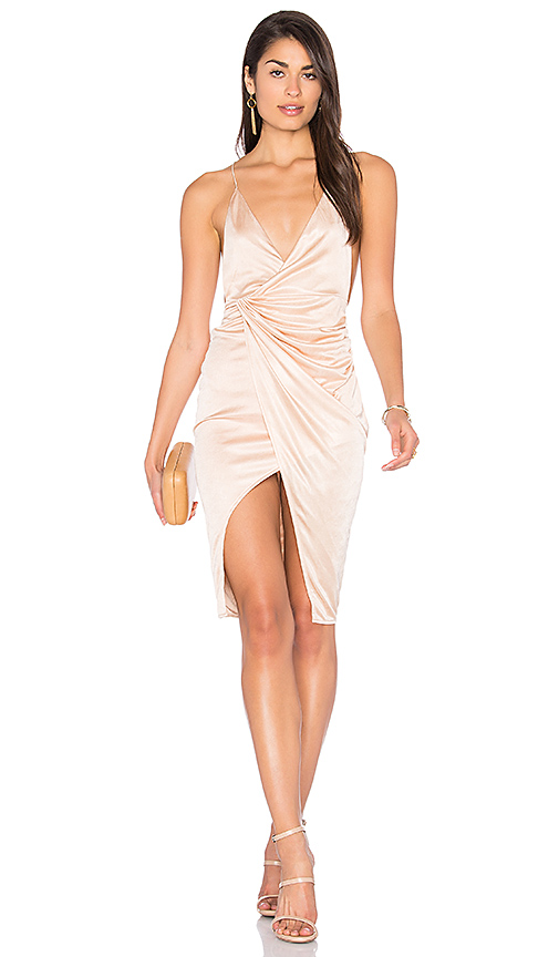 LIONESS Carrie Dress in Beige