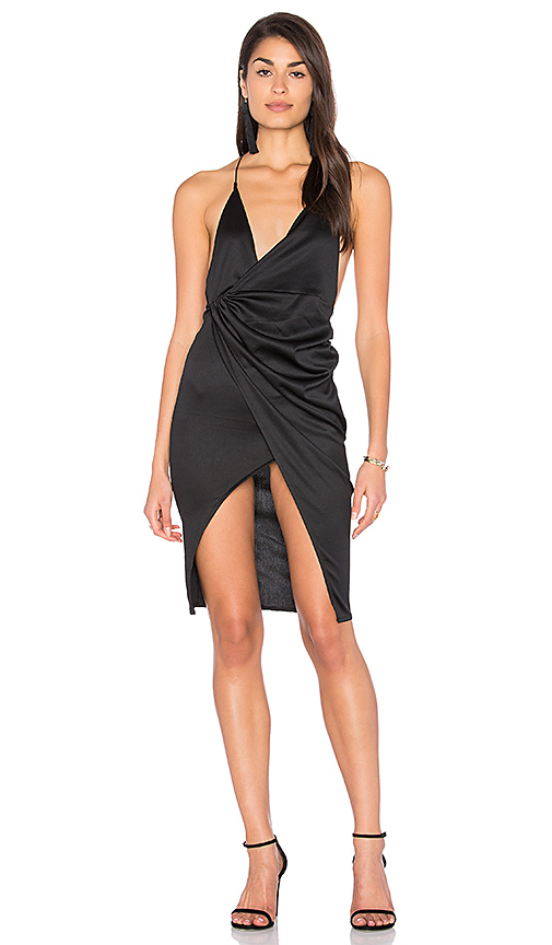 LIONESS Carrie Dress in Black