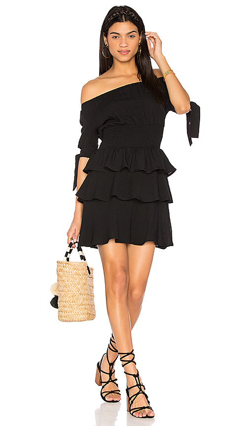 LIONESS Cuban Nights Dress in Black