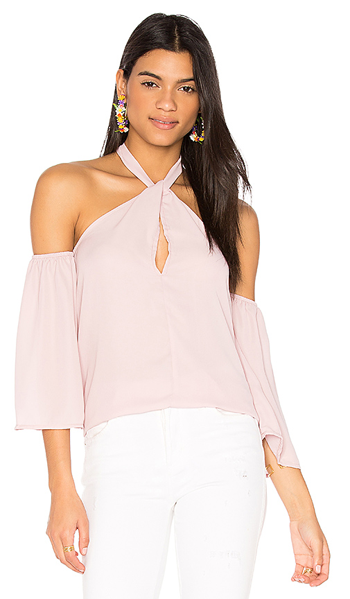 LIONESS Forever Flirting Shoulder Top in Blush