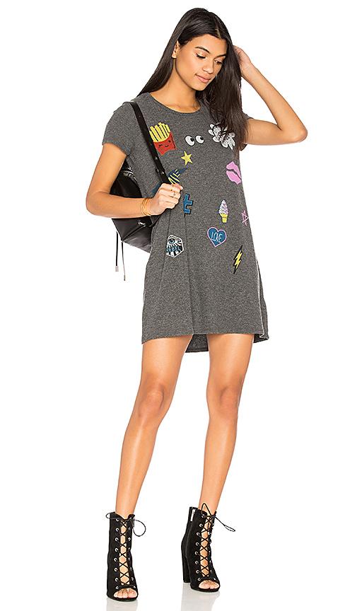 Lauren Moshi Lana Love & Smile Dress in Gray