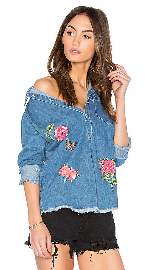 Lauren Moshi Sloane Button Up Denim Shirt