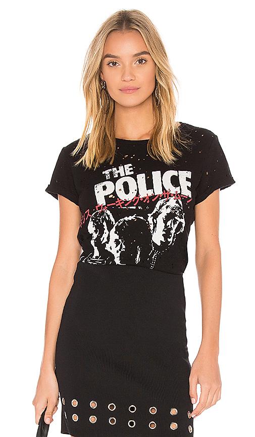 Lauren Moshi Bess Police Vintage Tee in Black