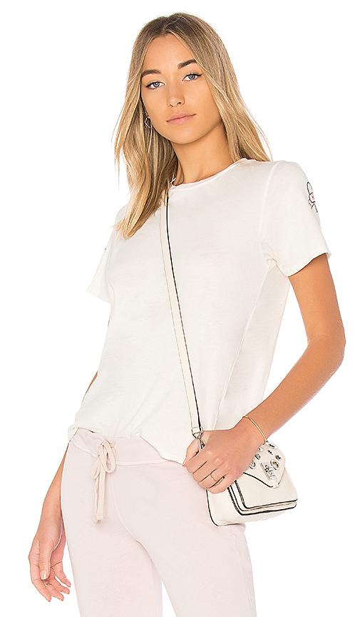 Lauren Moshi Croft Vintage Love Hate Tee in White