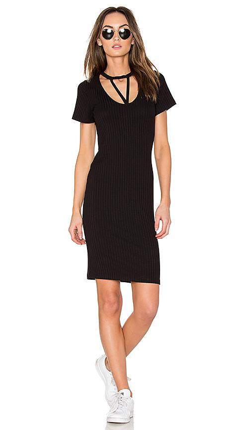 LNA Priestess Tee Dress in Black