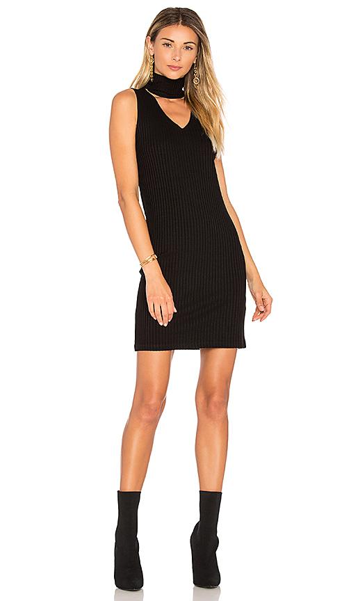 LNA Dethatched Turtleneck Dress in Black