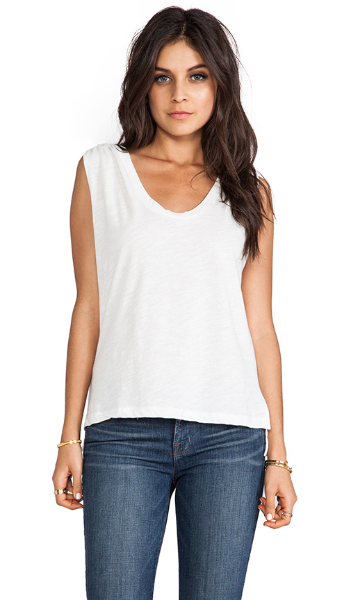 LNA Drape Tank in White
