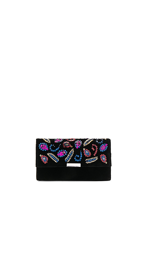 Loeffler Randall Tab Clutch in Black