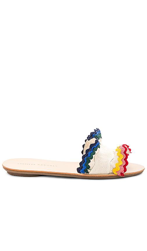 Loeffler Randall Birdie Ruffle Sandal in Cream