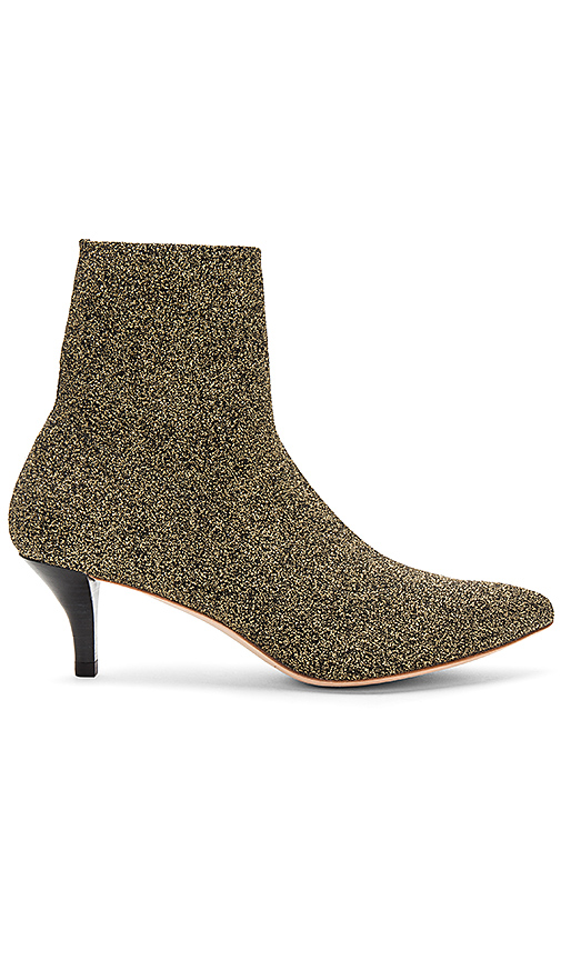 Loeffler Randall Kassidy Knit Bootie in Metallic Gold
