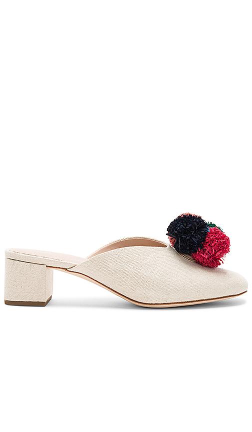 Loeffler Randall Lulu Pom Pom Heel in Cream
