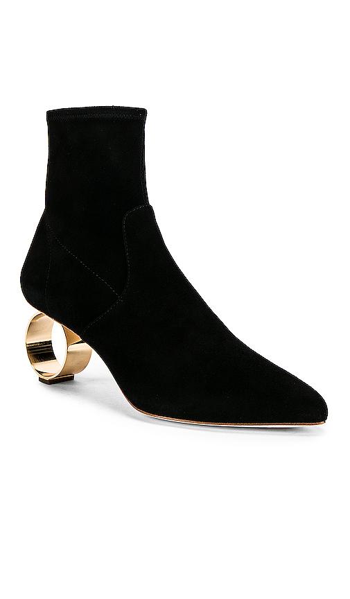 Loeffler Randall Kassidy Circle Heel Booties in Black
