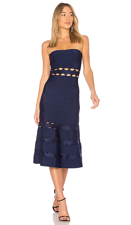 LOLITTA May Strapless Dress in Navy
