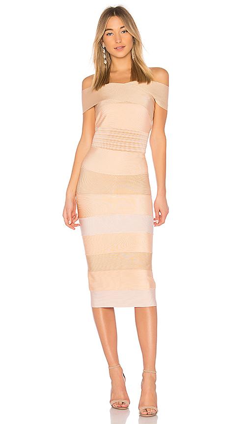 LOLITTA Feliccia Bodycon Dress in Cream. - size XS (also in S)