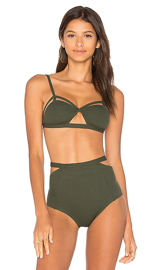 Lonely Edie Bikini Top in Army. - size M (also in S,XS)