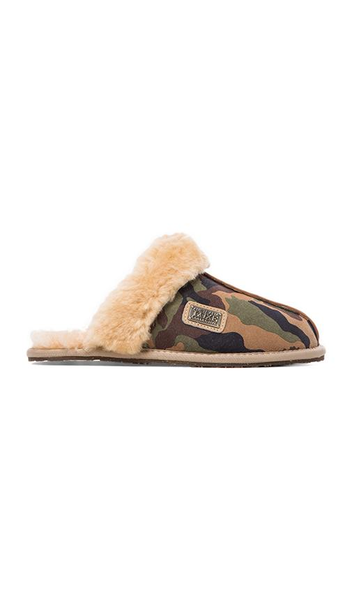 Australia Luxe Collective Closed Mule with Sheepskin in Army