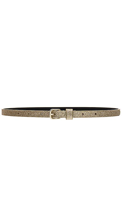 Lovers + Friends Kassie Belt in Metallic Gold