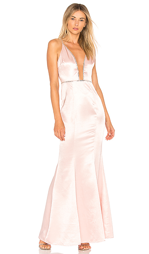Lovers + Friends Blair Gown in Pink
