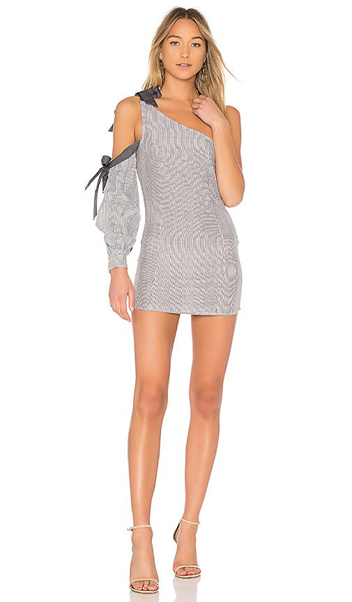 Photo of Lovers + Friends x REVOLVE Tie Me Up Dress in Gray - shop Lovers + Friends dresses sales