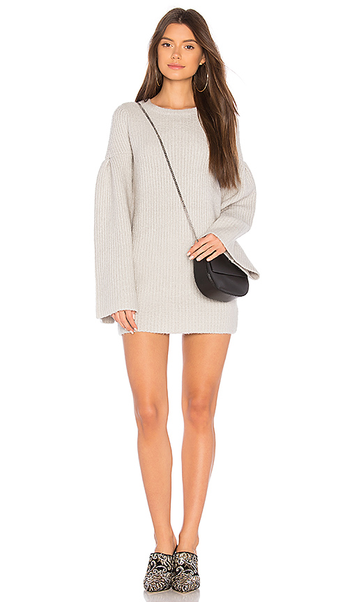 Lovers + Friends Gemstone Sweater Dress in Gray