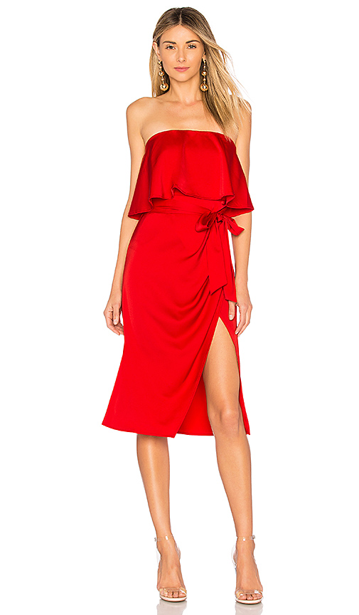 Lovers + Friends Violet Midi in Red
