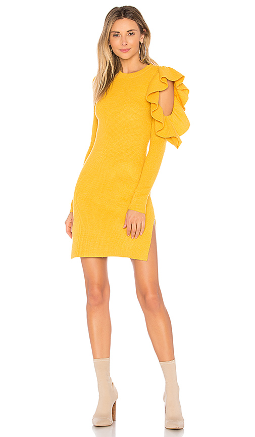 Lovers + Friends Boss Woman Dress in Mustard