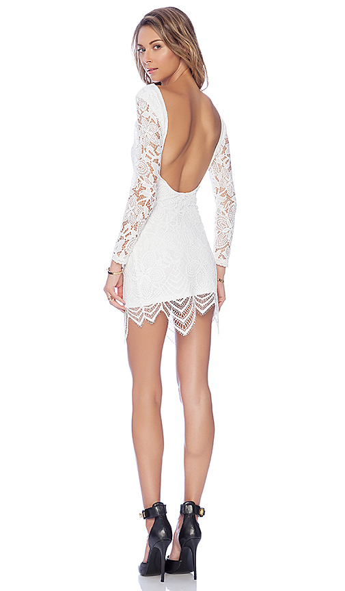 Lovers + Friends Sterling Bodycon Dress in White