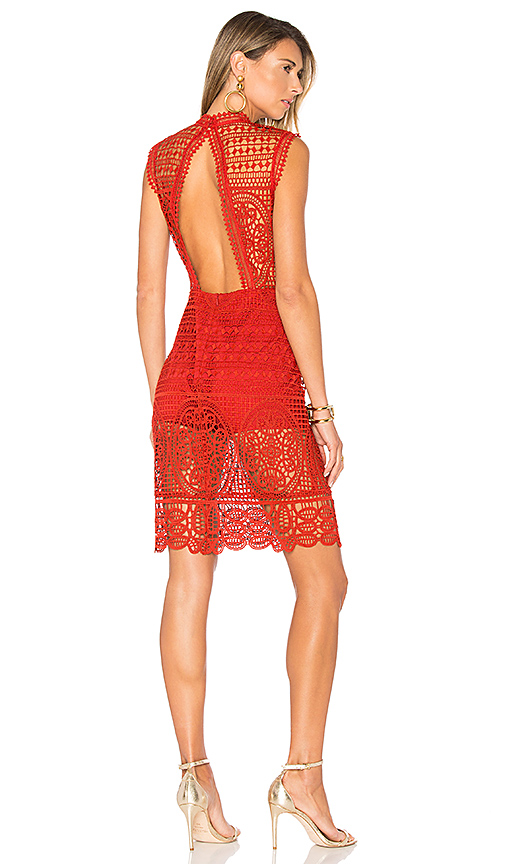 Lovers + Friends Blush Dress in Red