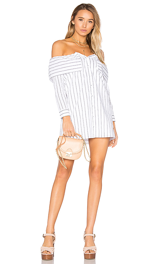 Lovers + Friends x REVOLVE Fold Over Dress in White