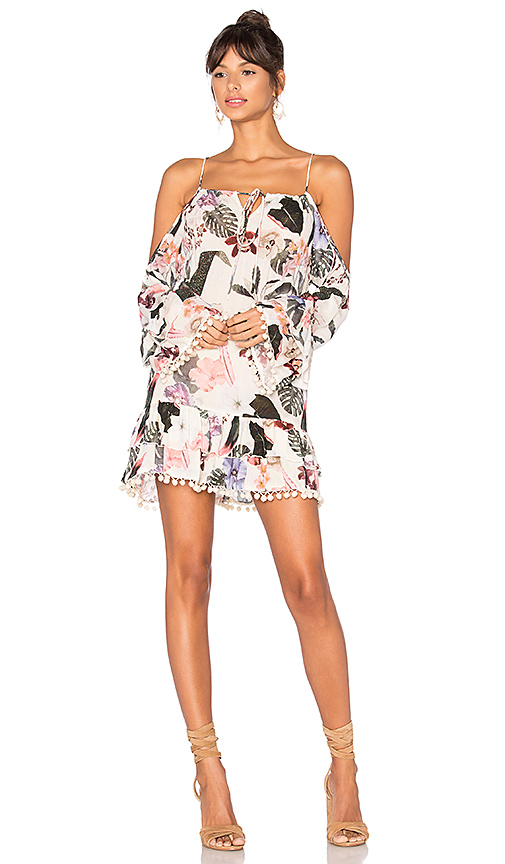 Lovers + Friends Tropical Oasis Dress in White