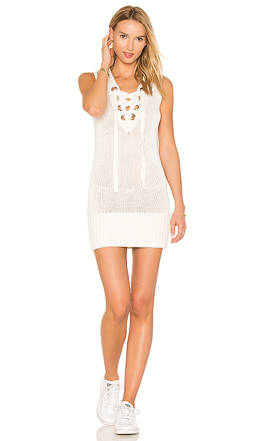 Lovers + Friends Simply Mine Sweater Dress in White