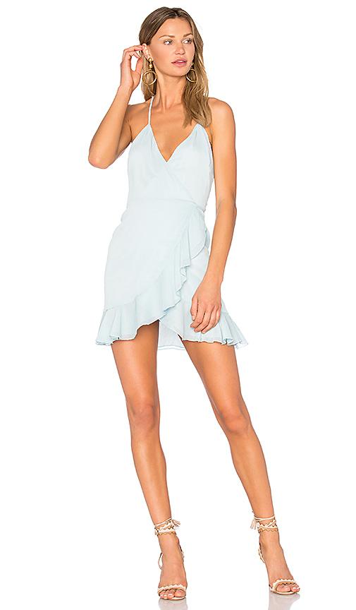 Lovers + Friends Gigi Wrap Dress in Baby Blue