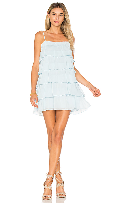 Photo of Lovers + Friends Liv Dress in Baby Blue - shop Lovers + Friends dresses sales