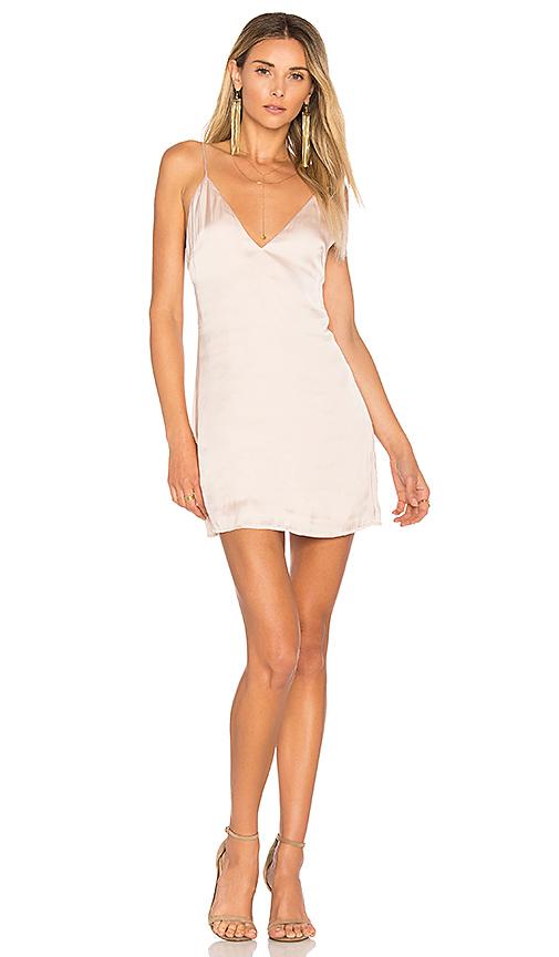 Lovers + Friends Mini Slip Dress in Blush