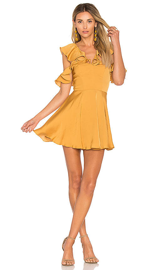 Lovers + Friends x REVOLVE Trophy Dress in Yellow. - size L (also in M,S)