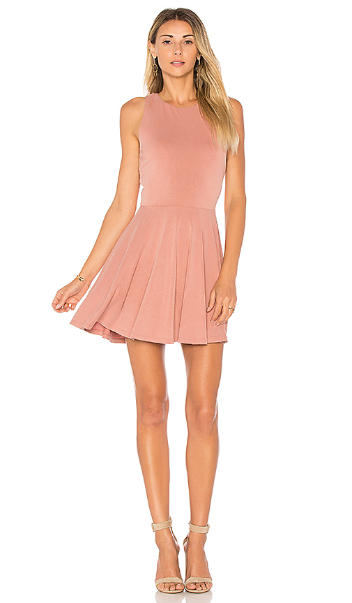 Photo of Lovers + Friends Sweet Thing Fit & Flare Dress in Mauve - shop Lovers + Friends dresses sales