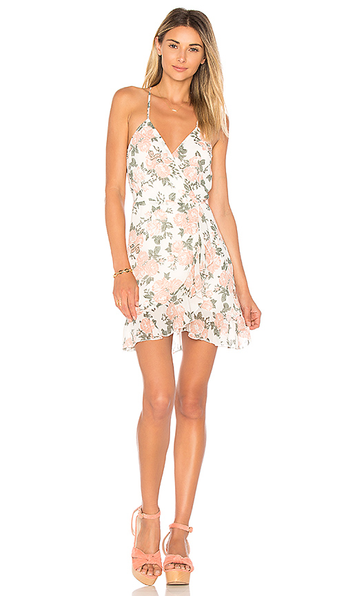 Lovers + Friends x REVOLVE Gigi Wrap Dress in White. - size L (also in M)