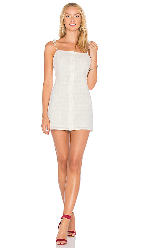 Photo of Lovers + Friends X REVOLVE Elena Mini Dress in Ivory - shop Lovers + Friends dresses sales