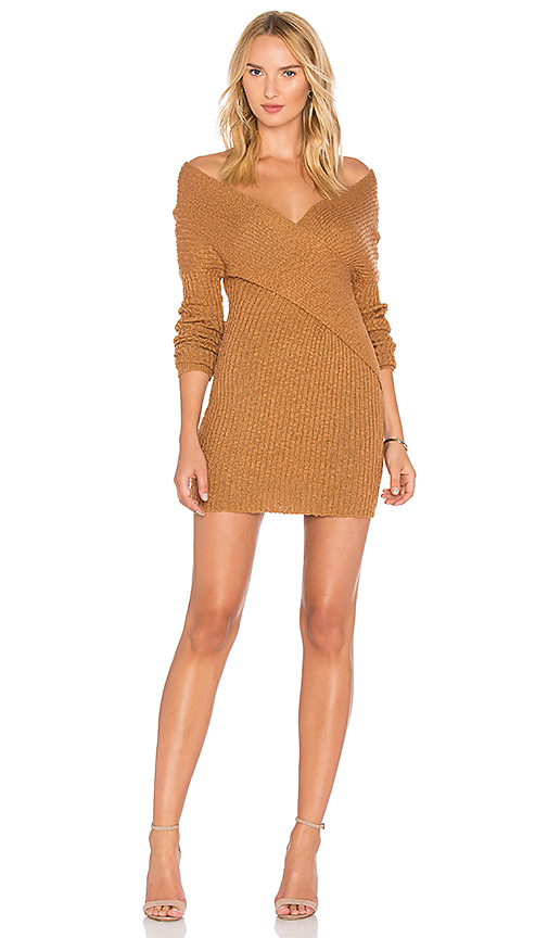 Lovers + Friends X REVOLVE Kai Sweater Dress in Tan