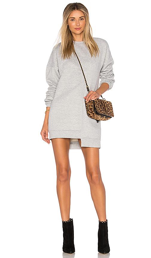 Lovers + Friends Game Day Sweatshirt Dress in Gray
