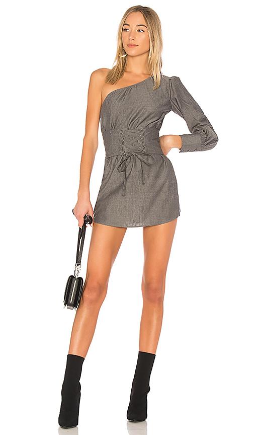 Lovers + Friends Tiffany Corset Dress in Gray