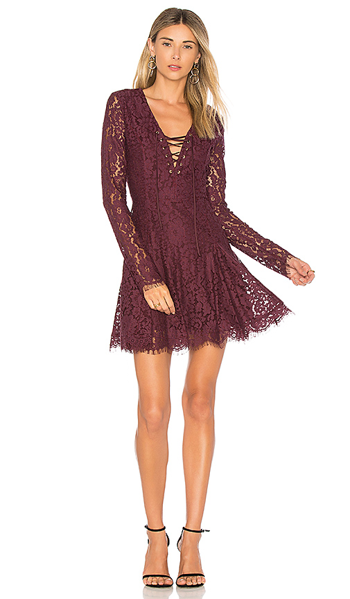 Lovers + Friends Mercury Dress in in Wine